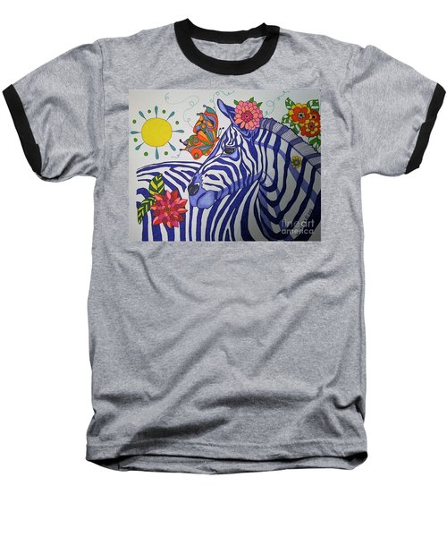 Zebra And Things Baseball T-Shirt