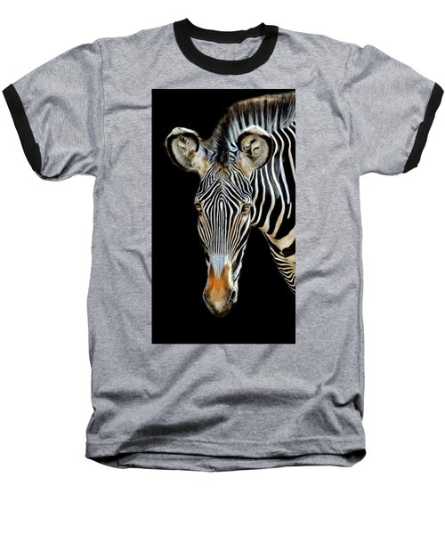 Baseball T-Shirt featuring the photograph Zebra by Dave Mills