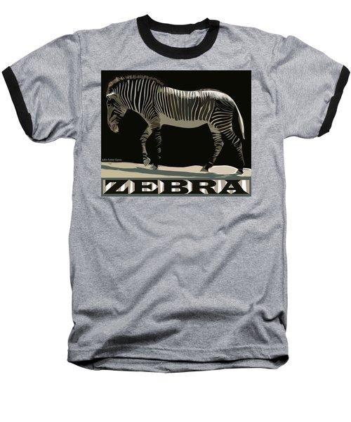 Zebra Design By John Foster Dyess Baseball T-Shirt
