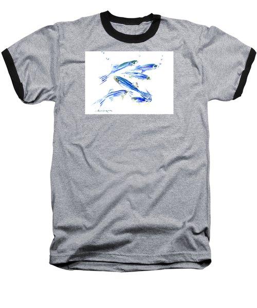 Zebra Fish, Danio Baseball T-Shirt by Suren Nersisyan