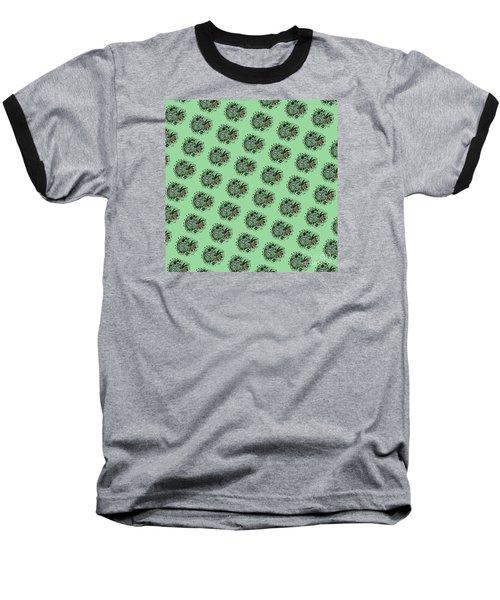 Zebra Illustration Pattern Baseball T-Shirt by Saribelle Rodriguez