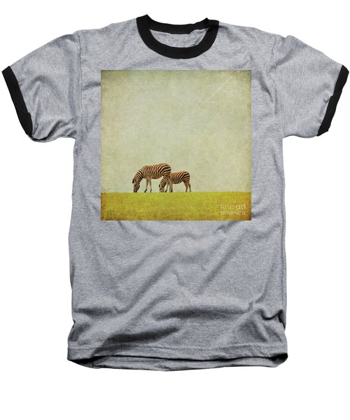 Zebra Baseball T-Shirt by Lyn Randle