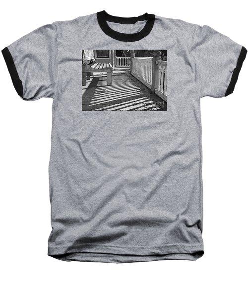 Zebra Porch Baseball T-Shirt by Betsy Zimmerli