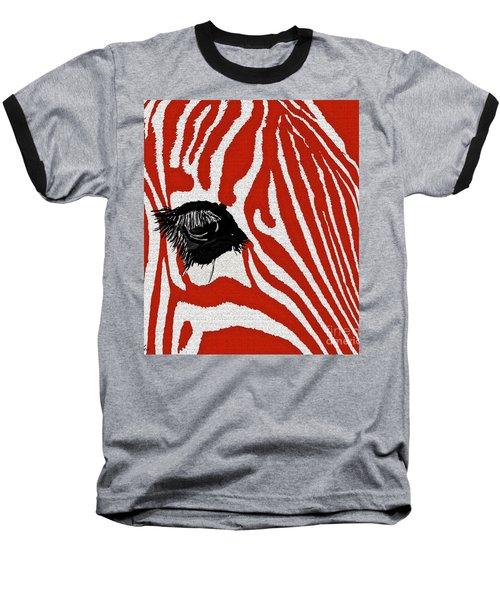 Zebra Red Baseball T-Shirt