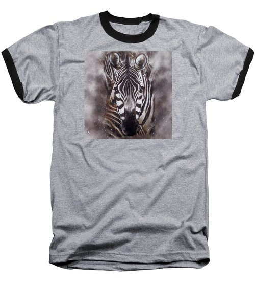 Zebra Splash Baseball T-Shirt
