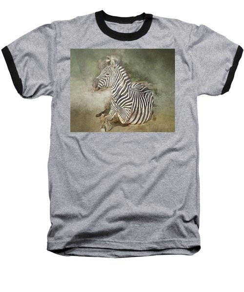 Zebra Watercolor Baseball T-Shirt