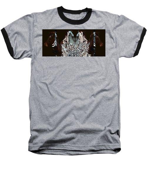 Zebraic Equation Baseball T-Shirt by Stephanie Grant