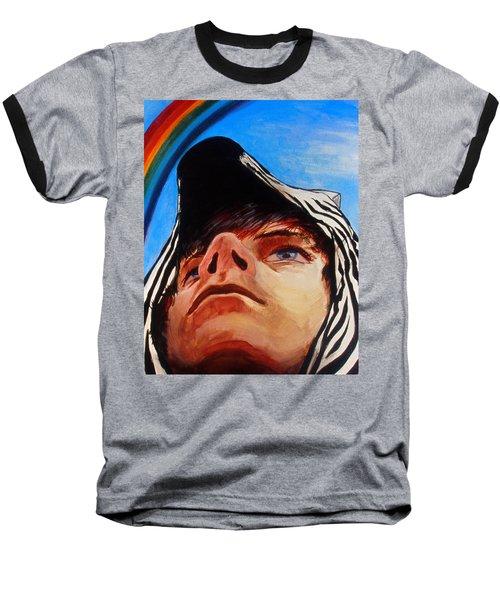 Zebras Always Look For Rainbows Baseball T-Shirt