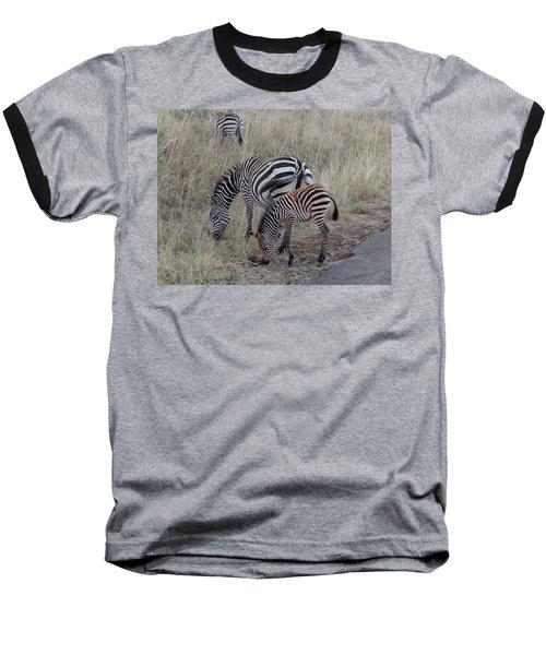 Zebras In Kenya 1 Baseball T-Shirt by Exploramum Exploramum