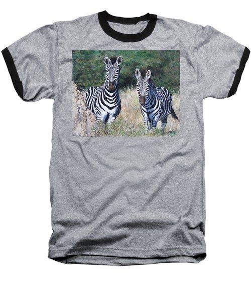 Zebras In South Africa Baseball T-Shirt