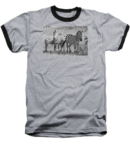 Baseball T-Shirt featuring the photograph Zebras In Thought by Pravine Chester