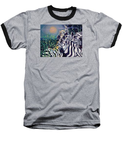 Zebras On The Savanna Baseball T-Shirt by Julie Todd-Cundiff