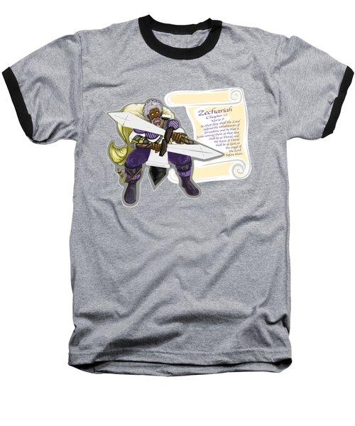 Zechariah 12 Vs.8 The Feeble As David Baseball T-Shirt