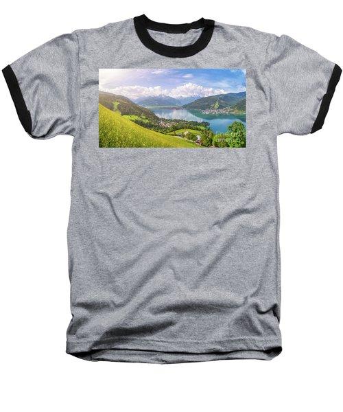 Zell Am See - Alpine Beauty Baseball T-Shirt by JR Photography