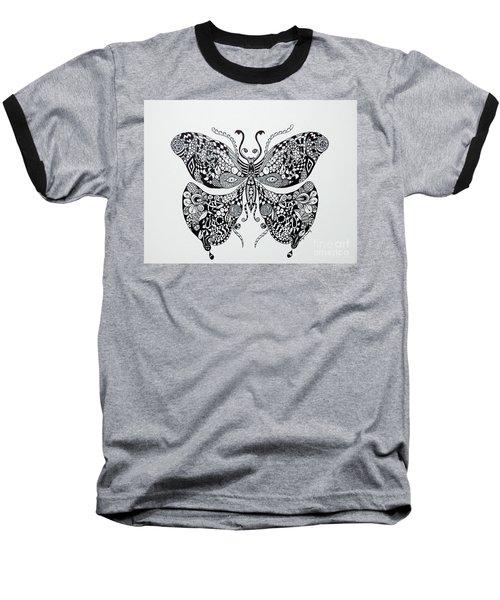 Zen Butterfly Baseball T-Shirt