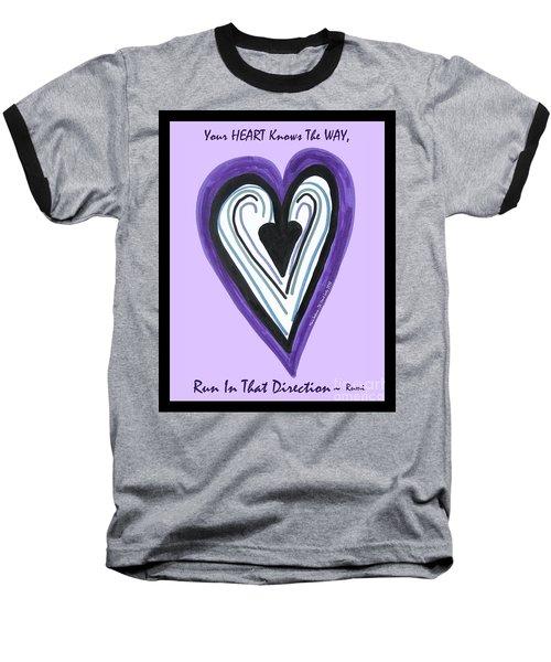 Zen Card Heart Path Baseball T-Shirt