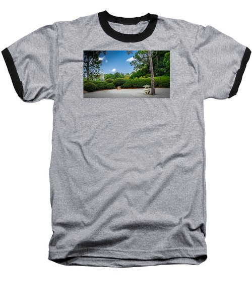 Zen Garden Baseball T-Shirt by Louis Ferreira