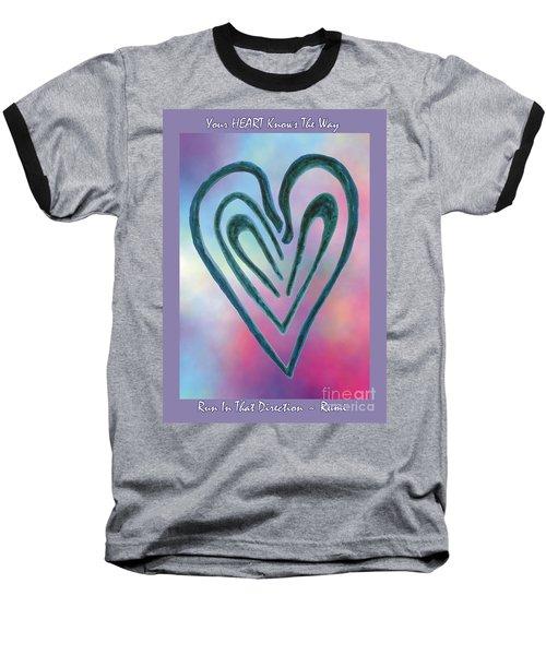 Zen Heart Labyrinth Baseball T-Shirt