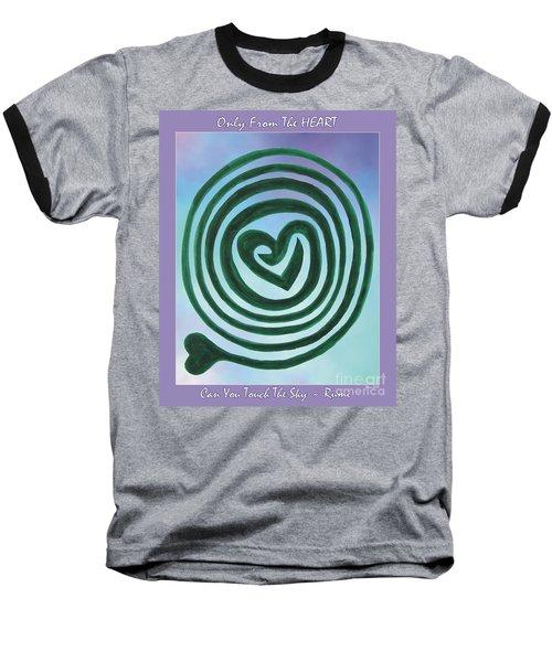 Zen Heart Labyrinth Sky Baseball T-Shirt