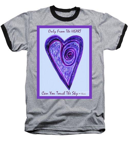 Zen Heart Pink Purple Vortex Baseball T-Shirt