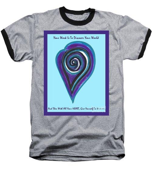 Zen Heart Vortex Wave Baseball T-Shirt