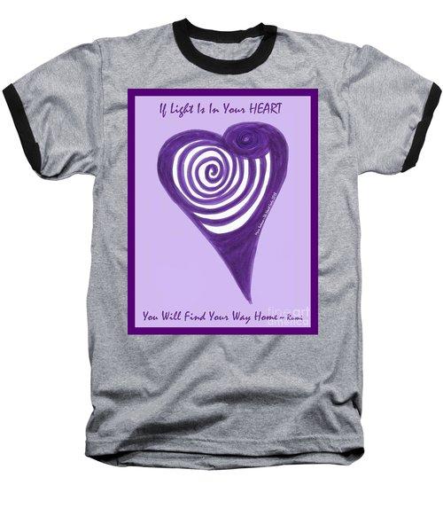 Zen Heart Vortexy  Baseball T-Shirt