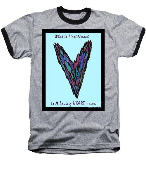 Zen Hearts In Betweens Baseball T-Shirt