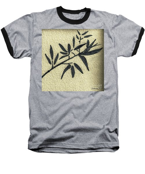 Zen Sumi Antique Botanical 4a Ink On Fine Art Watercolor Paper By Ricardos Baseball T-Shirt
