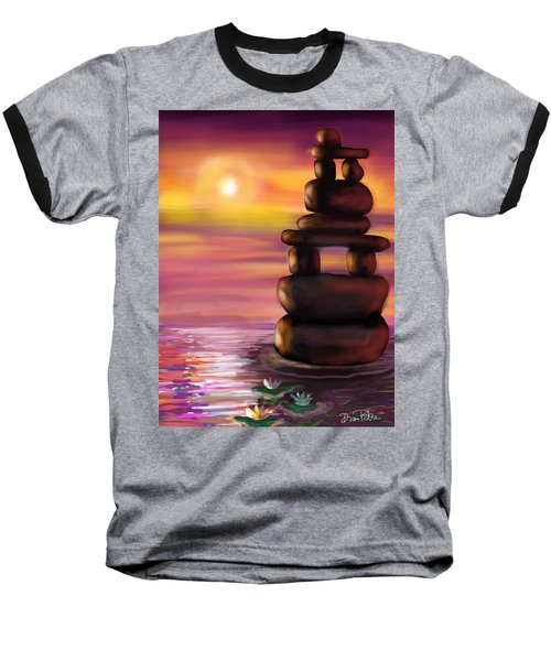 Zen Sunset Baseball T-Shirt by Diana Riukas