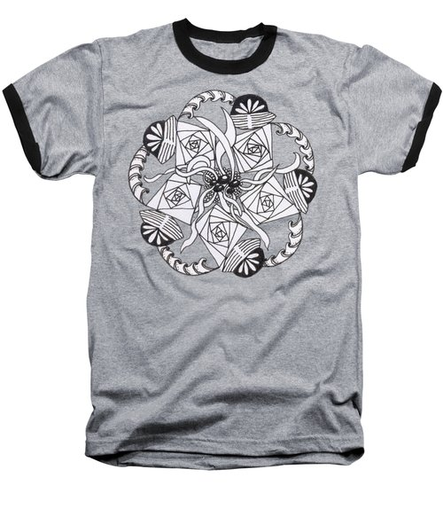 Zendala Seaweed Baseball T-Shirt by Lori Kingston