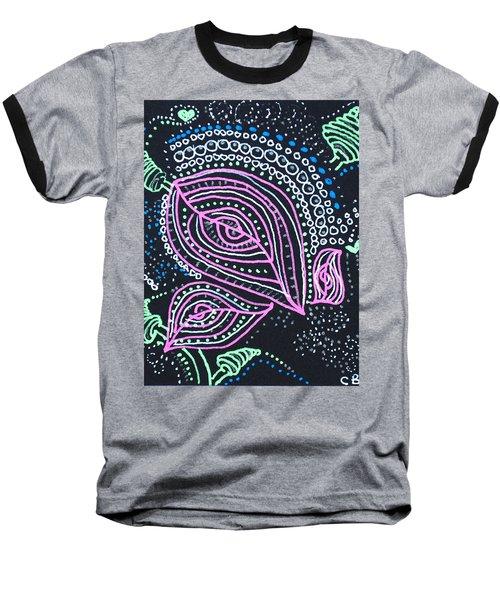 Zentangle Flower Baseball T-Shirt