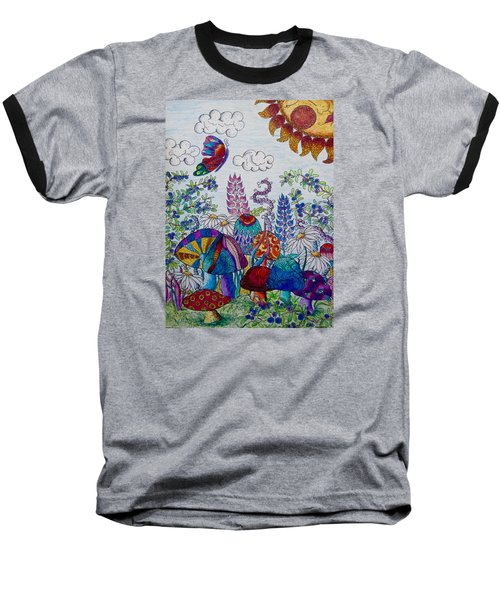 Zentangle Garden Baseball T-Shirt