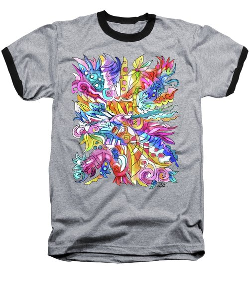 Zentangle-off The Cuff Baseball T-Shirt