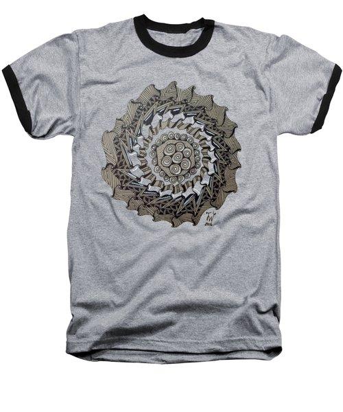Zentangle Shield  Baseball T-Shirt by Joyce Wasser