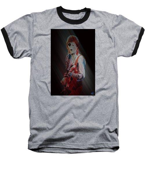 Ziggy Played Guitar Baseball T-Shirt by Kenneth Armand Johnson