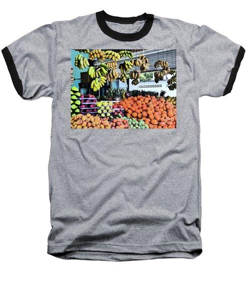 Zihuatanejo Market Baseball T-Shirt
