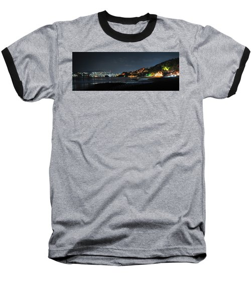 Zihuatanejo, Mexico Baseball T-Shirt by Jim Walls PhotoArtist