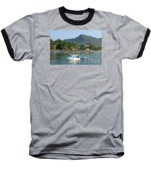 Zihwatanejo Beach Front Baseball T-Shirt