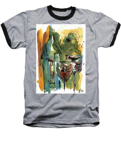 Baseball T-Shirt featuring the painting Zin-findel by Robert Joyner