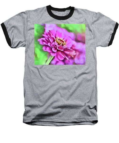 Zinnia Art 2 Baseball T-Shirt