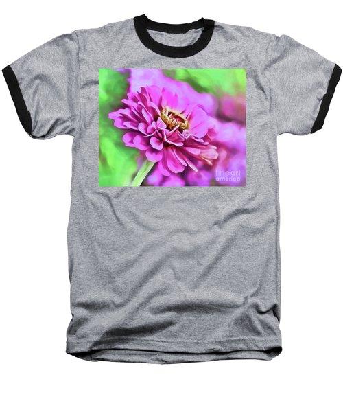 Zinnia Art 2 Baseball T-Shirt