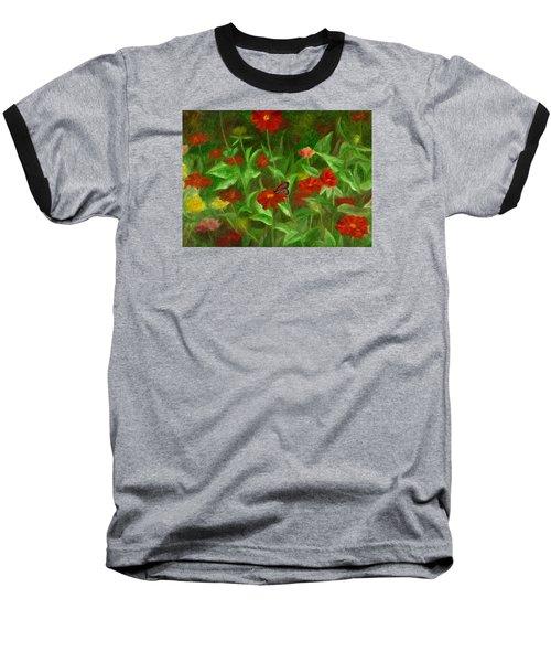 Zinnias Baseball T-Shirt