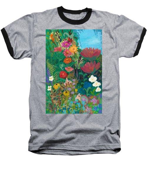 Zinnias Garden Baseball T-Shirt