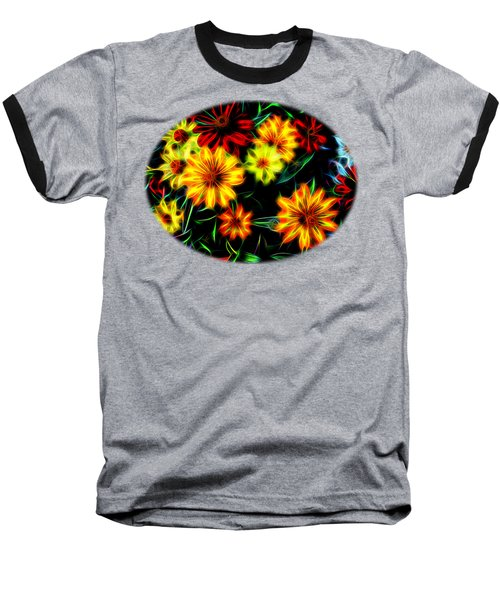 Zinnias With Zest Baseball T-Shirt by Nick Kloepping
