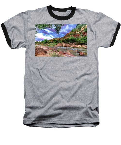 Zion At Daybreak Baseball T-Shirt