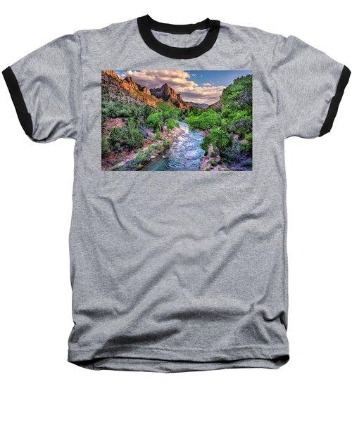 Zion Canyon At Sunset Baseball T-Shirt