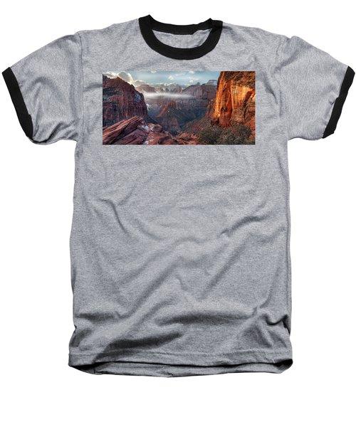 Zion Canyon Grandeur Baseball T-Shirt