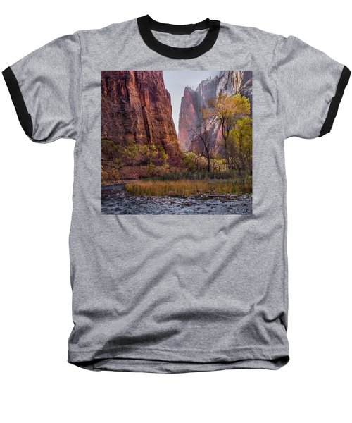 Baseball T-Shirt featuring the photograph Zion Canyon by James Woody