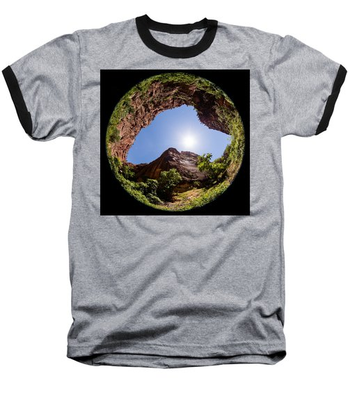 Zion Fisheye 1464 Baseball T-Shirt by Michael Fryd