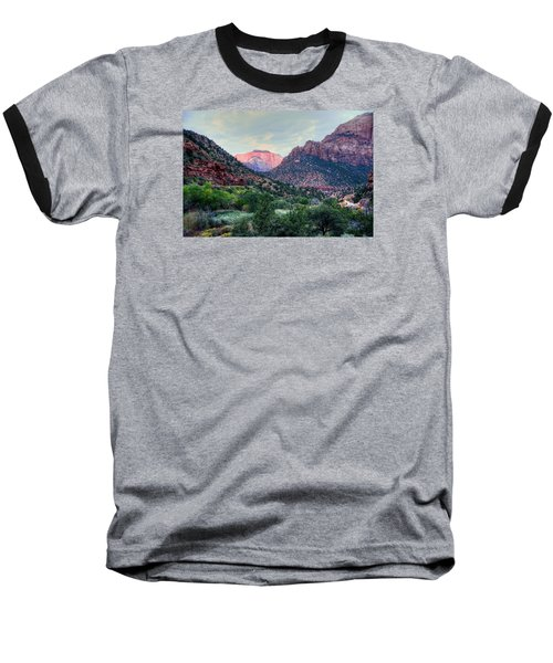 Zion National Park Baseball T-Shirt by Charlotte Schafer